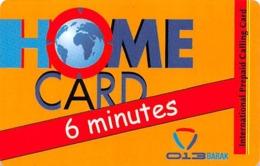 Home Card Bonus 6 Minutes Exp Date 13/06/10 - Phonecards