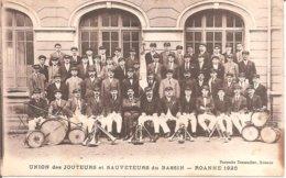ROANNE (42) UNION Des JOUTEURS Et SAUVETEURS Du BASSIN En 1926 (Carte Pas Très Courante) - Roanne