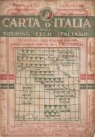 9507-CARTA D'ITALIA DEL TOURING CLUB ITALIANO-CATANZARO-1938 - Carte Geographique