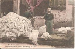 TOP CPA !!! ROANNE (42) Teintures Roannaises Réunies - Blanchissage Du Coton En 1914 (Cachet Hôpital Temp. N° 25 Roanne) - Roanne