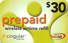 Cingular $30 Prepaid Wireless Airtime Refill Card - Phonecards