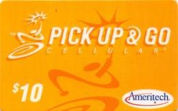 Ameritech $10 Pick Up & Go Cellular Card - Phonecards