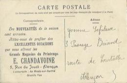 9677 CPA Publicitaire - Grands Magasins Du Printemps - E.Chandavoine à Alençon - Alencon