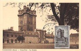1946 .carte Maximum .france .102192 .vincennes Le Donjon .cachet Vincennes . - Maximum Cards