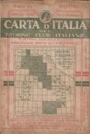 9508-CARTA D'ITALIA DEL TOURING CLUB ITALIANO-PALERMO-1934 - Carte Geographique