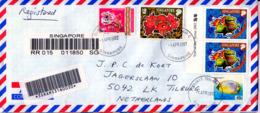 SINGAPORE  2002  COVER To NEDERLAND - Singapore (1959-...)