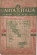 9509-CARTA D'ITALIA DEL TOURING CLUB ITALIANO-CEFALU'-1934 - Carte Geographique