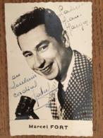 CPA, Marcel FORT (animateur Du Jeu Quitte Ou Double Sur Radio Luxembourg), Dédicacée,éd Radio Circus - Autres Célébrités