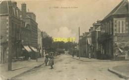 14 Vire, Avenue De La Gare, Carte Pas Courante Affranchie 1906 - Vire