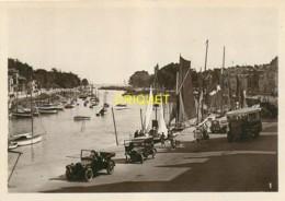 44 Le Pouliguen, Lot De 4 Photos Originales, Port, Quai, Tacots, Vieil Autocar.... - Le Pouliguen