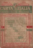 9510-CARTA D'ITALIA DEL TOURING CLUB ITALIANO-ETNA-1934 - Carte Geographique