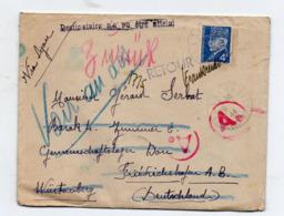 Lettre Du 28/4/44 à Destination De L'Allemagne Avec Retour à L'envoyeur (timbre Pétain 4f) (PPP20296) - Marcophilie (Lettres)