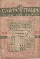 9511-CARTA D'ITALIA DEL TOURING CLUB ITALIANO-BADOLATO-1937 - Carte Geographique