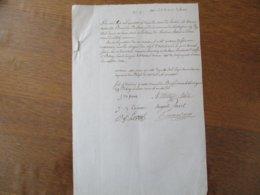 2 JANVIER 1840 LOUVIGNIES LEZ BAVAY BUREAU DE BIENFAISANNCE DISTRIBUTION AUX PLUS INDIGENTS D'OBJETS D'HABILLEMENT A:ROB - Manuscrits