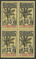 HAUT-SENEGAL-ET-NIGER N°10 N**  EN BLOC DE 4 - Upper Senegal And Nigeria (1904-1921)