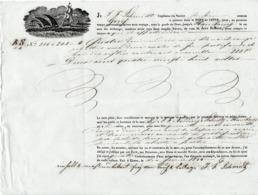 """1844 - CETTE à HAMBOURG - Connaissement Navire """"Greig"""" - VIN BLANC & ROUGE - Documents Historiques"""