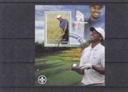 Golf - Palestine - BF Oblitéré De 2007 - Tiger Woods - Scoutisme - - Golf