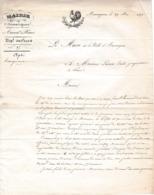 1839 - AIMARGUES (30) à M. LARNAC Emile Propriétaire à NIMES - Perte De 20.000 F Sur 33 Hectares De Vigne - Documents Historiques