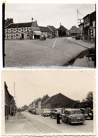2 X Foto AS Ca 1950 SPOORWEGOVERGANG N10 & STADSUITGANG Oude Auto's - Asche Photo - As
