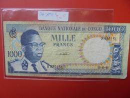 CONGO BELGE 1000 FRANCS 15-10-61 CIRCULER - [ 5] Belgisch Kongo