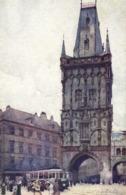 Illustrateur J Setelik  Prague Tour Poudrière RV - Tchéquie