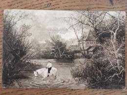Cpa, Illustrateur G Lorenz, Jeune Cavalier (e) Sur Son Cheval Traversant Un Cour D'eau,écrite En 1912, éd Rototaglio - Illustratori & Fotografie