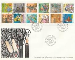 Rare Enveloppe Premier Jour Plaisir D'écrire 12 Timbres - FDC