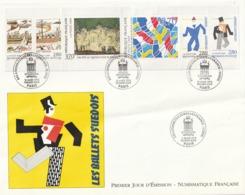 Rare Enveloppe Premier Jour Relations Culturelles France-Suède 18 Mars 1994 - FDC