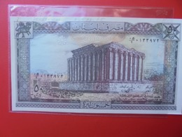 LIBAN 50 LIVRES 1964-88 CIRCULER  (B.7) - Libanon
