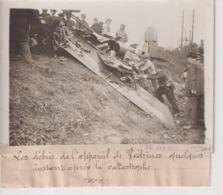 LES DÉBRIS L'APPAREIL DE VEDRINES QUELQUES INSTANT APRÈS LA CATASTROPHE 18*13CM Maurice-Louis BRANGER PARÍS (1874-1950) - Aviación