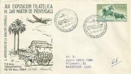 ESPAÑA SOBRE CONMEMORATIVO ANIVERSARIO AVIACION SELLO EDIFIL 1264 - 1931-Hoy: 2ª República - ... Juan Carlos I