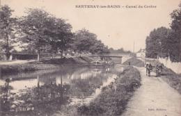 CPA - 21 - SANTENAY Les BAINS - Canal Du Centre - ânes Sur Le Chemin De Halage Tirant La Péniche - Other Municipalities