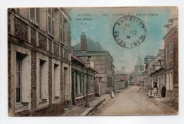 - CPA FAUVILLE (76) - Rue De L'Église (avec Personnages) - Edition L. J. 566 - - Other Municipalities