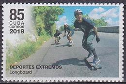 2019 CUBA  Longboard ** MNH Planche à Roulettes Skateboard   [ef26] - Skateboard