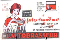 "A B/Buvard ""Autobrasseur""  (Format 21 X 13.5) (N= 1) - Buvards, Protège-cahiers Illustrés"