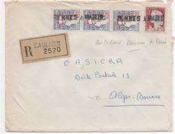 Linéaire Ambulant Rennes A PARIS Sur Lettre Pour L'Algérie - 1921-1960: Periodo Moderno