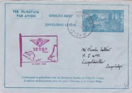 Aérograme Métallurgie Wandre Vers Léopoldville  1950 - Entiers Postaux