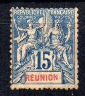 Sello Nº 37 Reunion - La Isla De La Reunion (1852-1975)