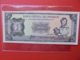 PARAGUAY 5 GUARANIES 1952 PEU CIRCULER (B.7) - Paraguay