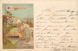 PLM - Compagni Générale Transatlantique, Alger, Carte Illustrée Par F.Hugo D'Alési. - Trains