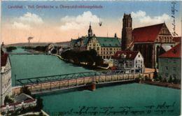 CPA AK Landshut Hell.Geistkirche U.Oberpostdirektionsgebaude GERMANY (891719) - Landshut