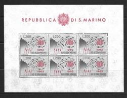 SAINT-MARIN 1962 FEUILLET EUROPA  YVERT N°572 NEUF MNH** - Blocs-feuillets