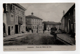 - CPA CHATENOIS (88) - Place De L'Hôtel-de-Ville 1906 (HOTEL RÉVEILLÉ) - Edition Claude Boyé - - Chatenois