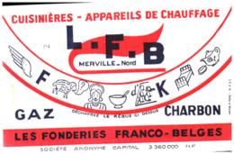 """Cu L/Buvard Cuisinière """"L.F.B"""" (Format 21 X 14) (N= 1) - Carte Assorbenti"""