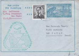 Aérograme Métallurgie  Via Lufthansa Frankfurt-Sao Paulo 15/8/1956 - Entiers Postaux