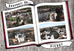 Souvenir De ... PIEGUT - Vieux Donjon - Abjat : Château De Ballerand - Puycharnaud - L'église - Livre Ouvert - France