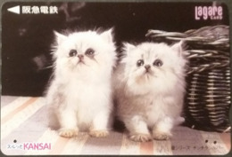 Prepaidcard Japan - Katzen,cats (12) - Katzen
