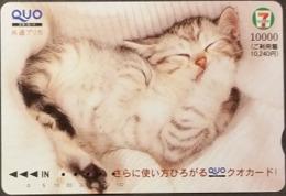 Prepaidcard Japan - Katzen,cats (6) - Katzen