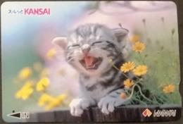 Prepaidcard Japan - Katzen,cats (5) - Katzen