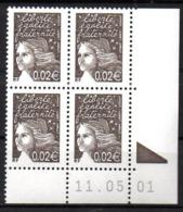 Col12   France Coin Daté N° 3444 3422 Luquet  11 05 01 Bopst Neuf XX MNH Luxe - 2000-2009